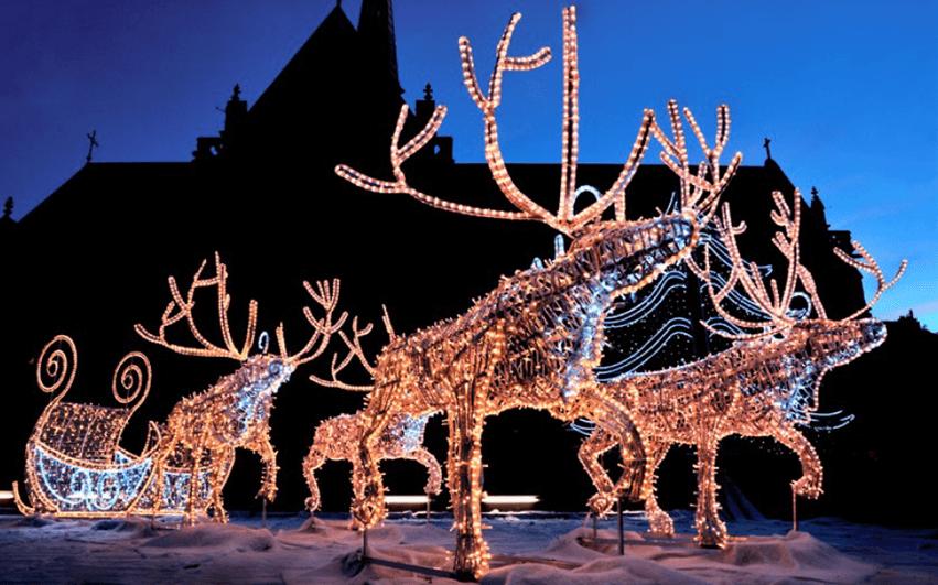 Christmas festival lights - Camões Rádio - Ontário