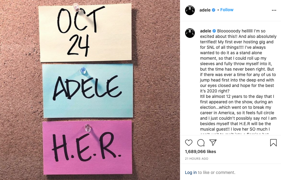 Adele no Saturday Night Live- Camões Rádio - Mundo