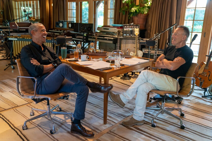 Obama e Springsteen num podcast no Spotify - camões rádio - mundo