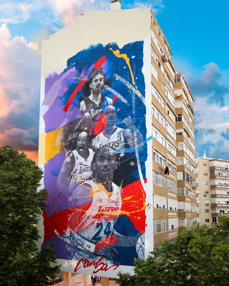 Kobe Bryant Arte Urbana em Lisboa - Camões Rádio - Portugal