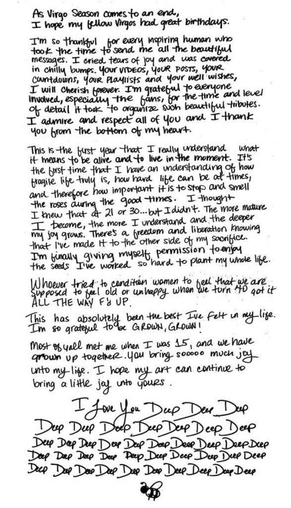 Beyonce escreve carta _ Camões Rádio - Noticias