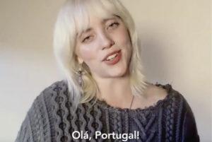 Billie Eilish mensagem a Portugal - Camões Rádio - Música