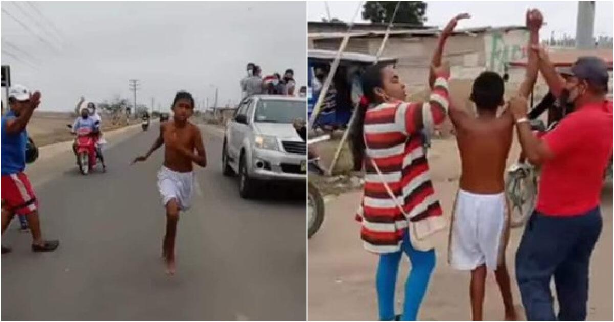 jovem de 13 anos comoveu o Peru - Camões Rádio - Desporto